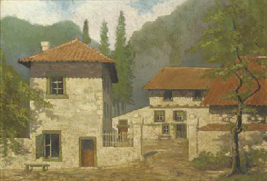 View of a Country House with a