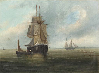 Ships in calm waters