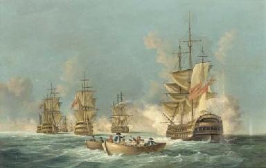 A naval battle on the high sea