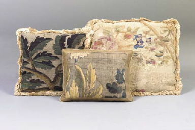 A GROUP OF FIVE TAPESTRY AND N