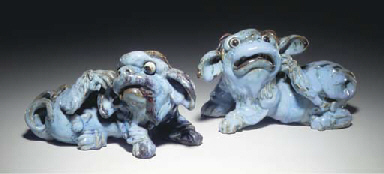 A PAIR OF CHINESE SHIWAN WARE