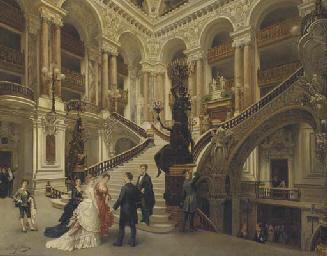 The interior of the Paris Oper
