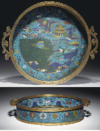 AN UNUSUAL CHINESE CLOISONNE E