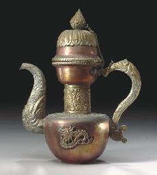 A TIBETAN COPPER EWER