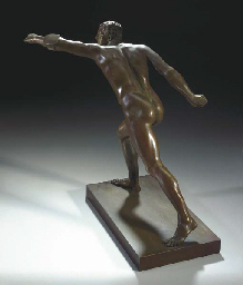 A BRONZE MODEL OF THE BORGHESE