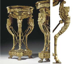 A PAIR OF REGENCY GILT-LACQUER