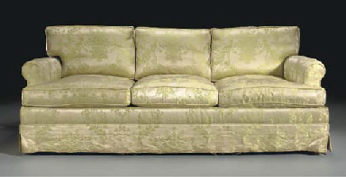 AN UPHOLSTERED THREE-SEATER SO