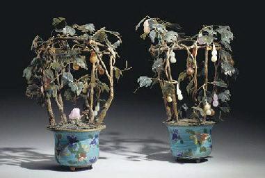 A PAIR OF CHINESE JADE AND HAR