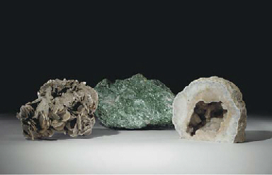 A GROUP OF THREE MINERAL SPECI
