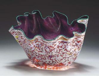 A 'MACCHIA' GLASS SCULPTURE