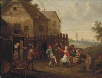 Peasants merrymaking and danci