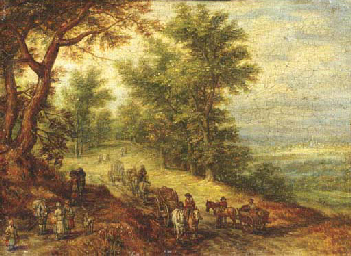 A wooded landscape with travel