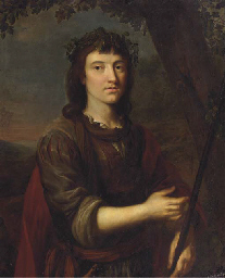 Portrait of a young man, half-