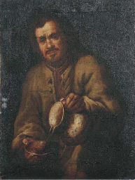 A man pouring wine into a drin