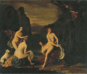 A wooded landscape with Diana