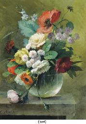 A pair of mixed summer bouquet