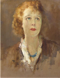 Girl with a blue necklace