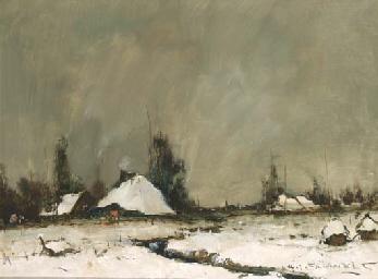 Farmhouses in winter