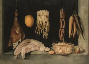 Sausages, carrotts, asparagus,