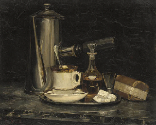 STILL LIFE OF A DECANTER, COFF