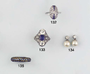(2)  A PAIR OF DIAMOND AND CUL