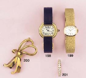 (2) A LADY'S 18K GOLD WRISTWAT