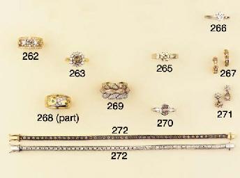 (2)  A PAIR OF DIAMOND EARHOOP