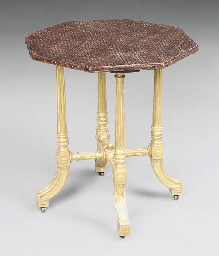 A MID-VICTORIAN GILTWOOD OCTAG