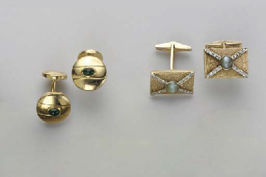 FOUR PAIRS OF GEM-SET, SIMULAT