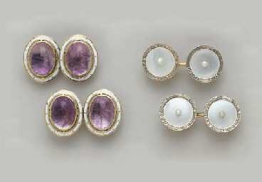 A GROUP GEM-SET, ENAMEL, GOLD,