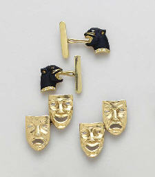 FIVE PAIRS OF CUFF LINKS