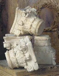 A set of four English statuary
