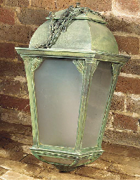AN ART DECO BRONZE LANTERN