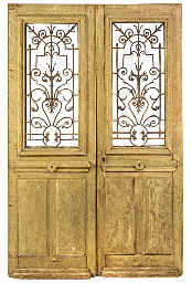 A PAIR OF FRENCH OAK AND CAST
