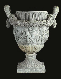 A FRENCH BRONZE URN