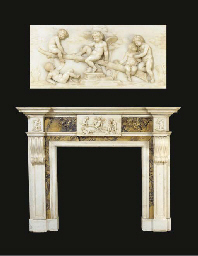 AN ENGLISH STATUARY WHITE AND