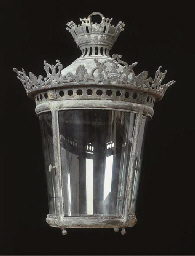 A French bronze hall lantern