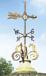 AN ENGLISH CAST IRON WEATHERVA