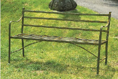 AN ENGLISH WROUGHT IRON GARDEN