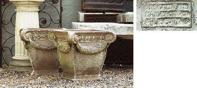 A PAIR OF STONEWARE PLANTERS