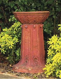AN ENGLISH TERRACOTTA PEDESTAL