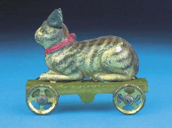 A rare Georg Fischer Tabby Cat