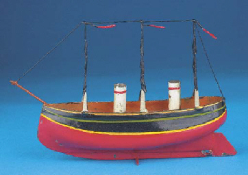 A German tinplate two-mast thr