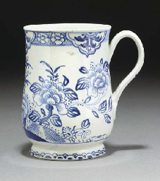 A Bow blue and white bell-shap