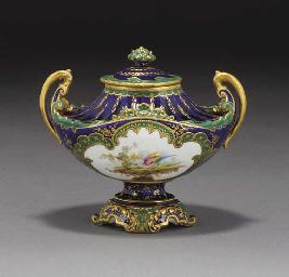A Crown Derby urn-shaped vase