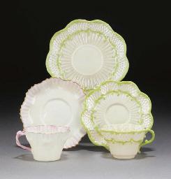 Nine pot lids, two mounted pot