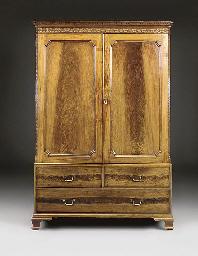 A mahogany cupboard