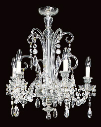 A Continental glass five light