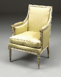 A FRENCH GILT AND CREAM PAINTE