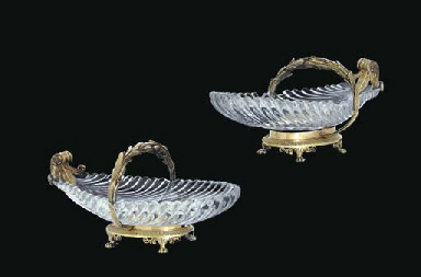 A PAIR OF FRENCH SILVER-GILT A